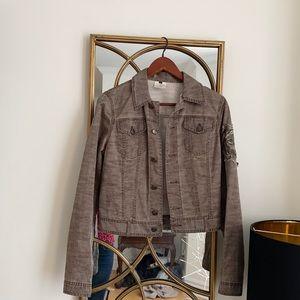 ROBERTO CAVALLI denim light brown jacket. Size S-M